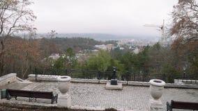 Construções de Pyatigorsk da montanha de Mashuk vídeos de arquivo