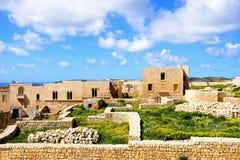 Construções de Victoria Citadel e ruínas, Gozo Foto de Stock Royalty Free
