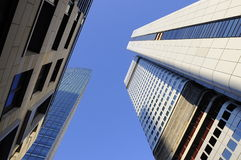 Construções do céu de Francoforte, Alemanha Fotografia de Stock