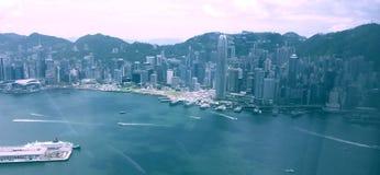 Construções do céu de Hong Kong Fotografia de Stock