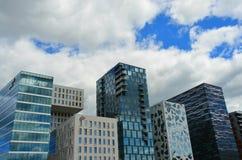 Construções do código de barras em Oslo Foto de Stock