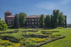 Construções do castelo de Wawel Fotografia de Stock Royalty Free