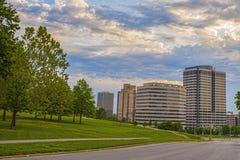 Construções do centro de Kansas City Missouri Fotos de Stock Royalty Free