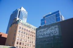 Construções do centro de Portland Oregon Fotos de Stock Royalty Free