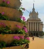 Construções do Conselho em Sófia, Bulgária foto de stock