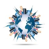 Construções do mundo ilustração royalty free