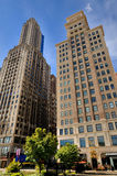 Construções do negócio de Chicago, Illinois Fotografia de Stock Royalty Free