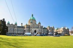 Construções do parlamento do Columbia Britânica em Victoria, BC, Canadá imagem de stock
