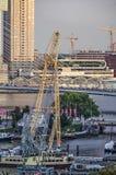 Construções do porto e do southbank do museu foto de stock