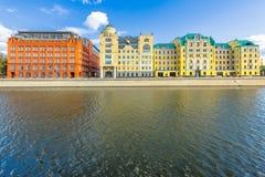 Construções dos bens imobiliários de Moscovo Fotos de Stock Royalty Free