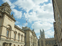 Construções e abadia Imagens de Stock