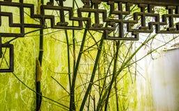 Construções e bambu antigos Foto de Stock Royalty Free