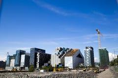 Construções e construção modernas Fotografia de Stock Royalty Free