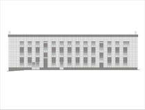 Construções e estruturas do adiantado e dos mediados do século XIX imagens de stock royalty free