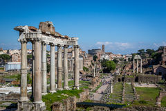 Construções e ruínas, Roman Forum em Roma Itália Fotografia de Stock Royalty Free