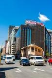 Construções e ruas de Joanesburgo foto de stock