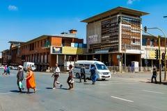 Construções e ruas de Joanesburgo fotos de stock royalty free