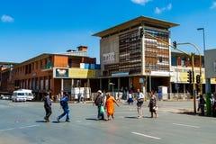 Construções e ruas de Joanesburgo fotografia de stock royalty free