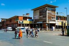 Construções e ruas de Joanesburgo foto de stock royalty free