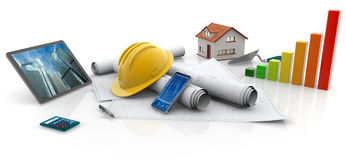 Construções ecológicas ilustração stock