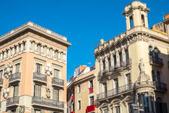 Construções em Barcelona Fotos de Stock