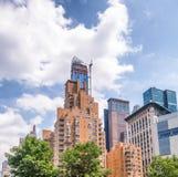 Construções em Columbus Circle, New York City Foto de Stock Royalty Free