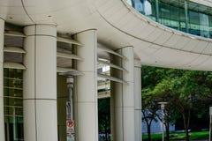 Construções em houston do centro Fotos de Stock Royalty Free