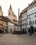 Construções em Ljubljana na manhã Fotografia de Stock Royalty Free