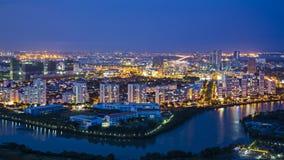 Construções em Phu minha pendurada, Distric 7, Ho Chi Minh City Fotografia de Stock Royalty Free