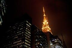 Construções em Sao Paulo imagens de stock
