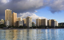 Construções em Waikiki Imagens de Stock
