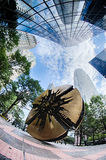 Construções financeiras do arranha-céus em Charlotte North Carolina Fotos de Stock