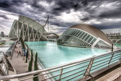 Construções futuristas de Valência, Espanha Fotografia de Stock Royalty Free