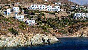 Construções gregas da ilha, Andros Fotos de Stock Royalty Free