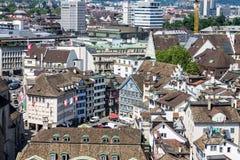 Construções históricas de Suíça de Zurique Fotografia de Stock