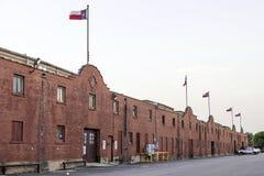 Construções históricas dos currais de Fort Worth Fotografia de Stock
