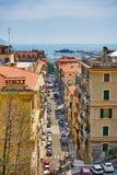 Construções históricas e La Spezia/Itália do porto imagens de stock royalty free
