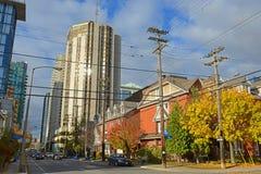 Construções históricas e modernas em Ottawa, Canadá foto de stock royalty free
