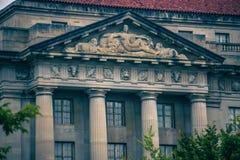 Construções históricas e ruas na C.C. de Washington Imagem de Stock