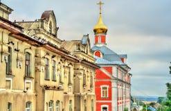 Construções históricas em Dormition santamente Pochayiv Lavra em Ucrânia Fotografia de Stock Royalty Free