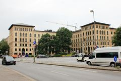 Construções históricas em Munich Alemanha Foto de Stock