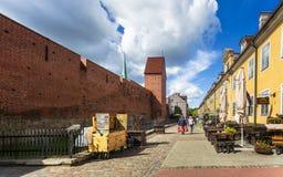 Construções históricas em Riga velho foto de stock