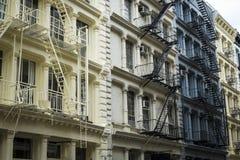 Construções históricas no distrito do Soho de New York City imagem de stock royalty free
