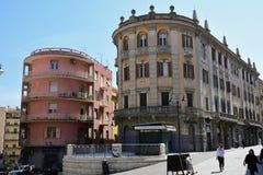 Construções históricas, Quartiere Villanova, Cagliari, Sardinia, Itália fotos de stock royalty free