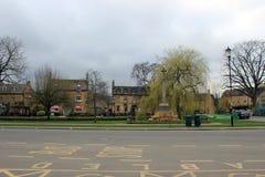 Construções inglesas pequenas da paisagem da vila Fotografia de Stock Royalty Free
