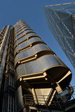 Construções Londres de Lloyds e de Leadenhall Imagem de Stock