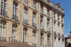 Construções - Lugar du Parlement - Bordéus - França Imagem de Stock Royalty Free
