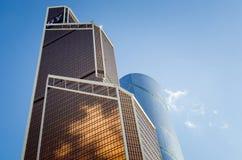 Construções modernas bonitas da Moscou-cidade do centro de negócios fotografia de stock