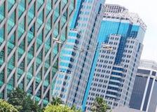 Construções modernas da arquitetura moderna Fotos de Stock Royalty Free