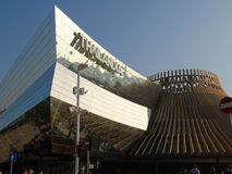 Construções modernas da expo de Milão foto de stock royalty free